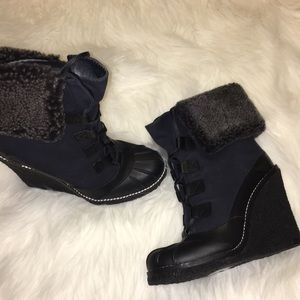 Tory Burch boots with fur